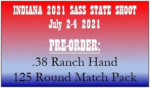 IN STATE PRE-ORDER .38 Ranch Hand - 125 Round Match Pack